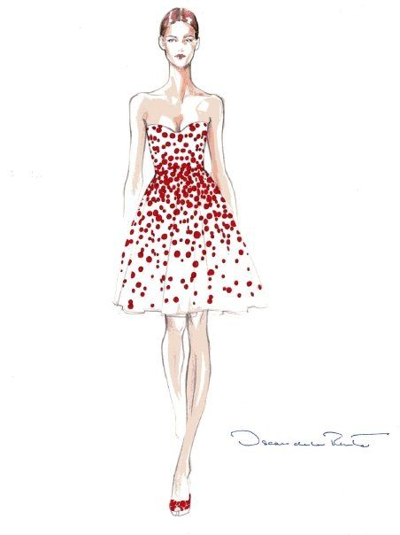 Prêt-à-Random: Oscar de la Renta Sketches This beautiful mind will be forever remembered in history!