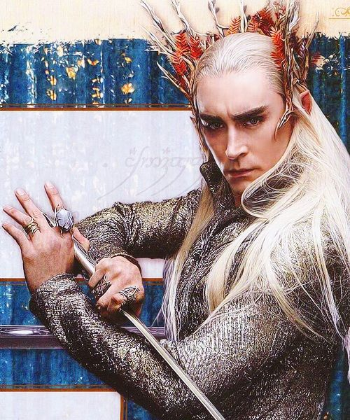 Pictures of Thranduil of Mirkwood released. Apparently the black eyebrows are hereditary.