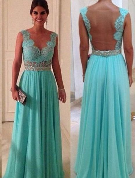 Dress - Tiffany blue dresses- Blue dresses and Long dresses