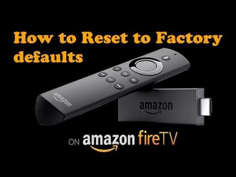 35 How To Reset Erase Your Amazon Firestick To Factory Defaults Youtube Amazon Remote Reset Amazon