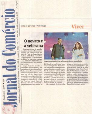 #DiogoNogueira 2009 - Jornal do Comércio
