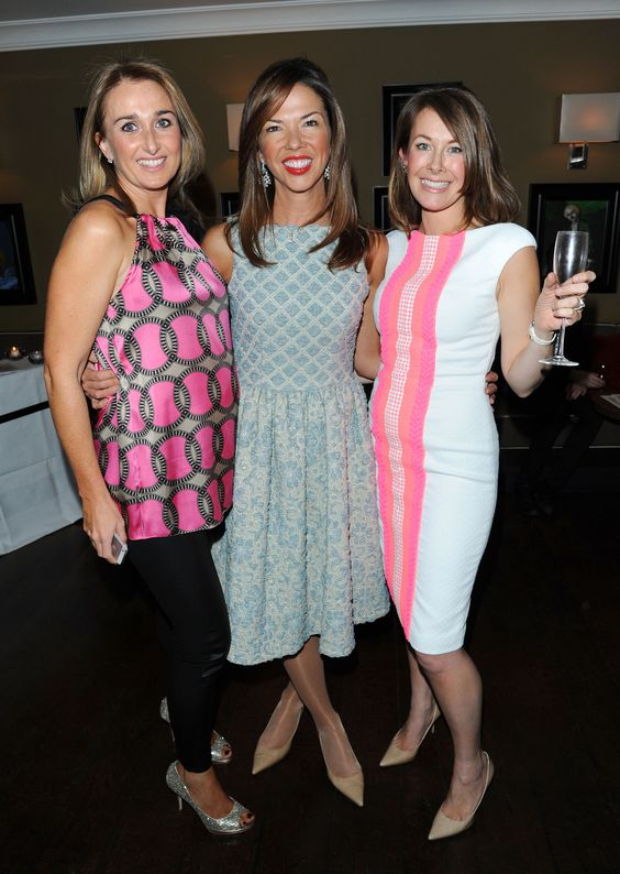 Madderson London's Helen Hughes and Sara Madderson with Heather Kerzner (centre)
