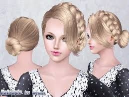 Enjoyable Braided Bun Hairstyles Sims 3 And Bun Hairstyles On Pinterest Short Hairstyles For Black Women Fulllsitofus