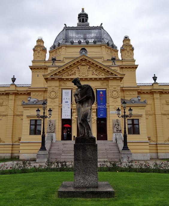 Art Pavilion Y Estatua Zagreb Croacia Croacia Zagreb Estatuas