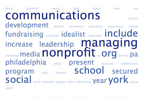 Use A WordCloud App To Ensure You Use The Language Of The Job