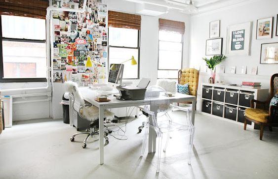 black & white office love
