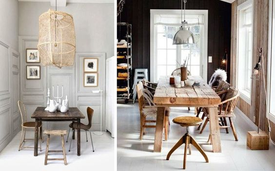 C mo decorar el comedor en estilo rustic chic new house - Decorar comedor rustico ...