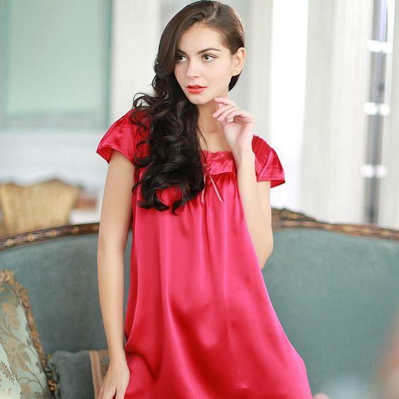 silk robe silk like pajamas | Silk Sleepwear | Pinterest | Shorts ...