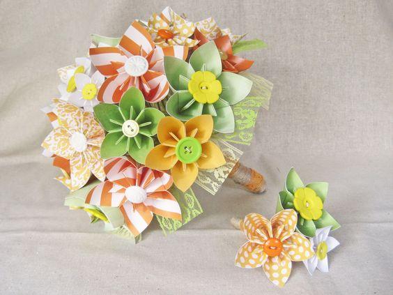 paper flower bouquet for wedding