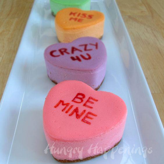 Conversation Heart Cheesecakes