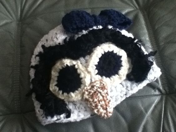 Penguin Baby Crochet Hat - no pattern, fun use for scraps