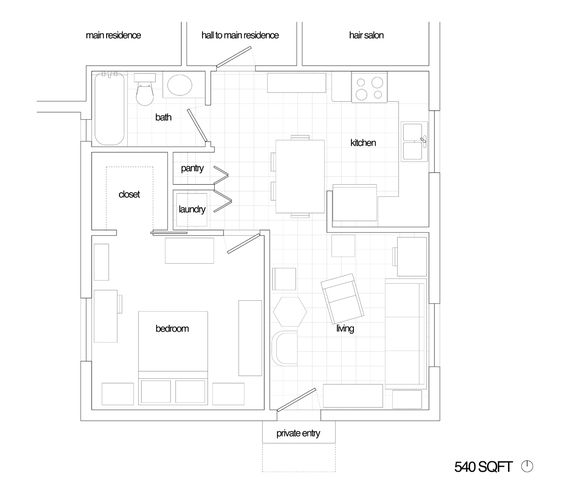 Converting garage to inlaw suite google search home for Garage suite plans