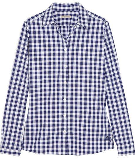 Burberry Gingham cotton shirt on shopstyle.com