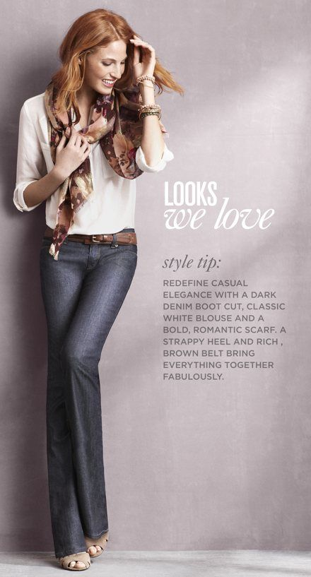 Simple jeans, white button up and scarf to spice it up! <3