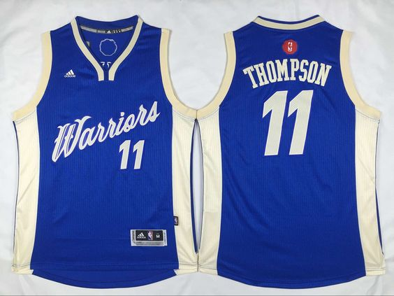 ... Short-Sleeved Jersey 21.5 Adidas Golden State Warriors 11 Klay Thompson  2015 Christmas Blue NBA Swingman Jersey cheap ... de88b3c2a