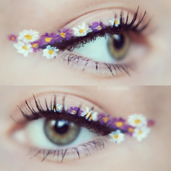 Floral eyes - beautiful eye makeup!