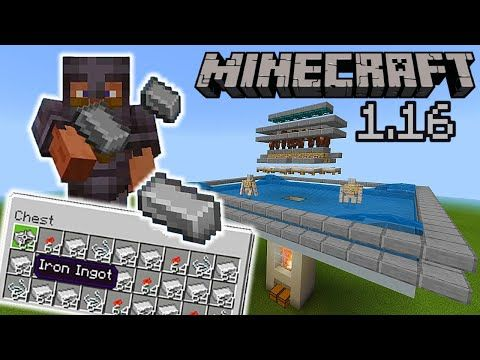 Simple 1 16 Iron Farm Tutorial In Minecraft Bedrock Very Efficient Mcpe Xbox Ps4 Switch Windows10 You Minecraft Iron Minecraft Designs Minecraft Creations