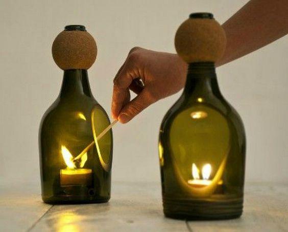 8 idées originales pour transformer une bouteille en objet de déco + méthode de découpe du verre