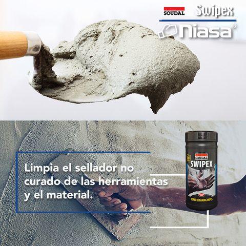 Para Eliminar Los Restos De Adhesivos Y Selladores Sobre Tus Recubrimientos Niasa Trae Para Ti Swipex De Soudal Paños De Limpieza De Sellador Adhesivo Curar