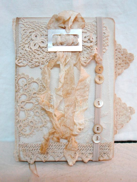Diy Lace Book Cover : Vintage lace journals and on pinterest