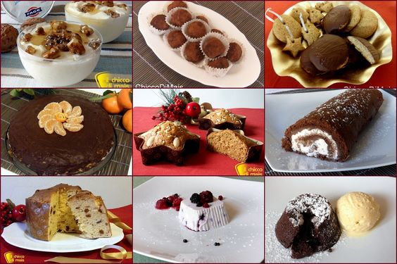 ... di dolci natalizi: biscotti, dessert, torte, dolci al cucchiaio per