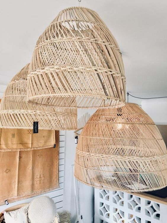 Rattan Light Pendant 50cm W x 50cm L x 50cm H *This is a bulky/oversized item, if you would like to order please email us for a shipping quote which will be sent separately.