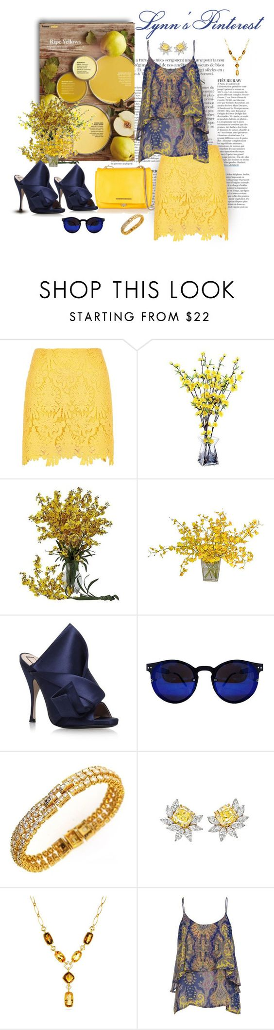 """""""Use One Of These 2 - #4125"""" by lynnspinterest ❤ liked on Polyvore featuring Anja, River Island, Nearly Natural, The French Bee, N°21, Cartier, Harry Winston, David Yurman and Marc by Marc Jacobs"""