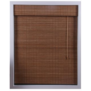 "Ginger Bamboo Roman Shade 31X54""....used these in MK's kitchen...nice medium tone and better mounting system than Home Depot's"