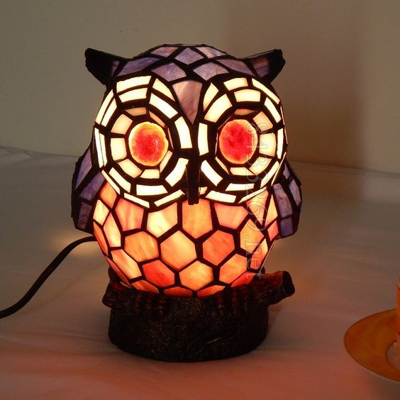 Owl Tiffany LampA15-1RT43