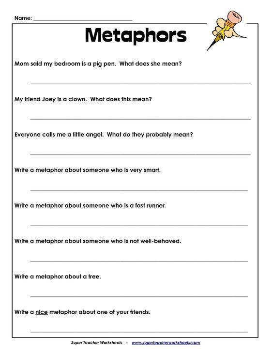 Worksheet Figurative Language Level Simile Assessment Toolkit And Great Website For Poetry Sc Bahasa Kiasan