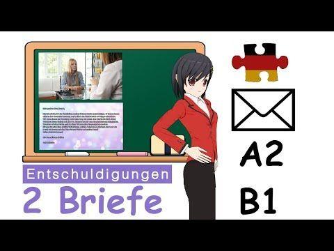 Brief Schreiben Deutsch B1 A2 Musterbriefe Krankmeldung Entschuldigungsschreiben German Deutsch Com Entschuldigung Schreiben Briefe Schreiben Briefe