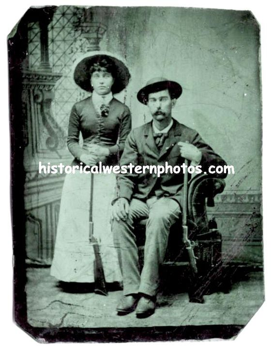 Virgil and Allie Earp. Allie lived into her 90's, dying in 1947. Virgil died in 1905 at the age of 61.