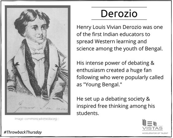 This Throwback Thursday we pay our respects to one of the greatest social reformers of India. #ThrowbackThursday, #Derozio, #education, #educator