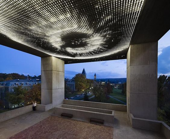 Leo Villareal, Cosmos, 2012. Site specific installation: Johnson Museum of Art, Cornell University, Ithaca, NY. White LEDs, custom software, electrical hardware.
