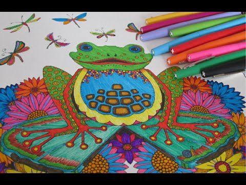 Floresta Encantada - Sapo pintado com canetinha | Luciana de Queiróz