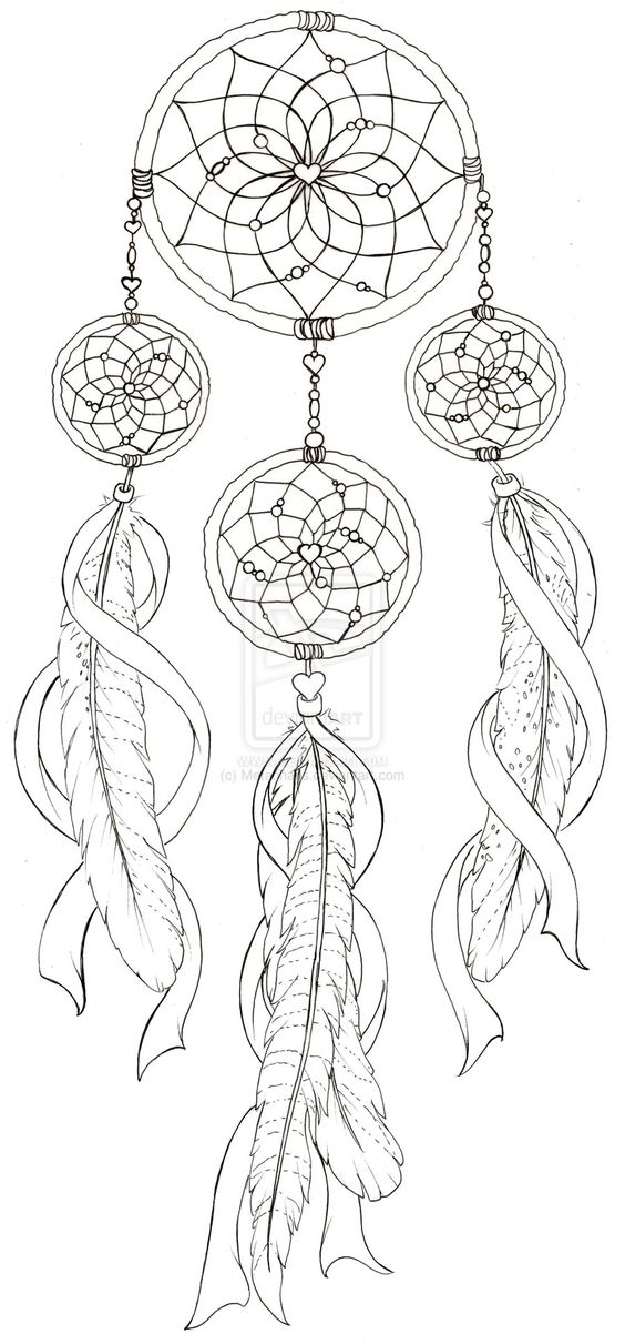 dream catcher with pheasant feather tattoo by