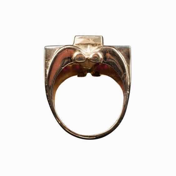 Anello Déco con Rubini e Diamanti  #ring #jewellery #luxuryjewels #shoppingonline #archiviostore