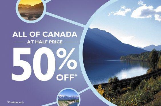 Canada by train.  viarail.ca