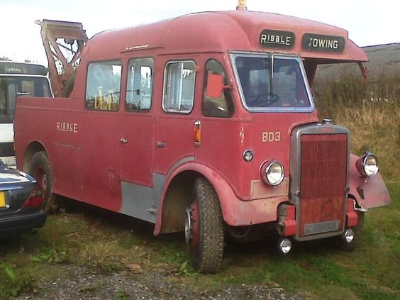 Leyland bus converted to towtruck