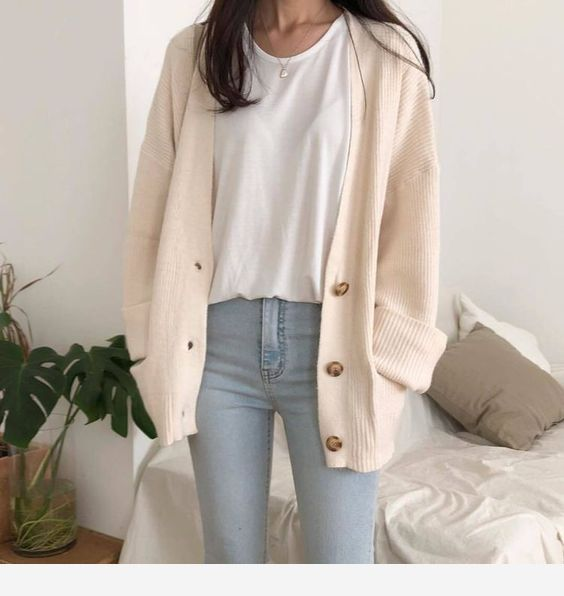 Beige Cardigan For Fall Women Sweaters Winter Cute Casual Outfits Womens Workout Outfits