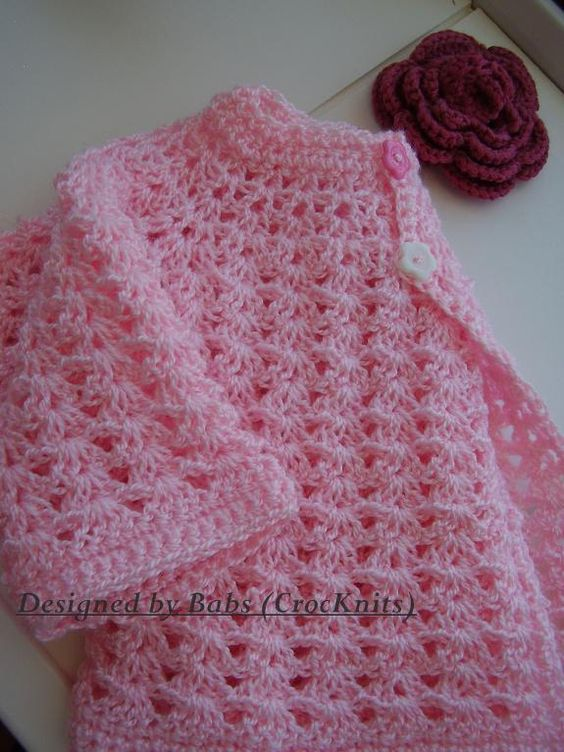 In The Pink Baby Crochet Top Croch? beb?, Estampas e ...