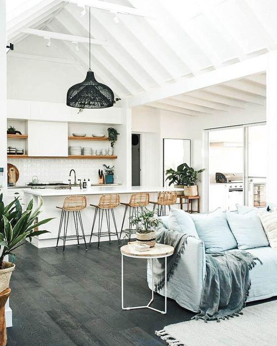 "Nomadic Fabrics on Instagram: ""An open concept dream ☁️☁️ ⠀⠀⠀⠀⠀⠀⠀⠀⠀ ⠀⠀⠀⠀⠀⠀⠀⠀⠀ #currenthomeview #flashesofdelight #livingroominspo #livingroomgoals #boho…"""