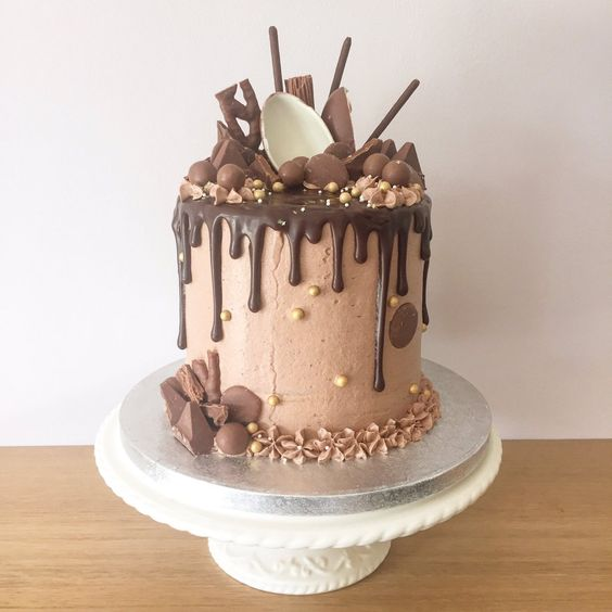 Birthday Cake Photos Chocolate Ganache : Epic chocolate cake with buttercream, ganache drip icing ...