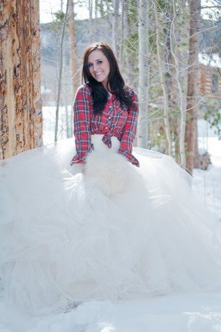 Plaid a dress consignment shops flannels barn weddings winter bride