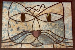 Paul Klee  Cat stained glass Klee Paul -