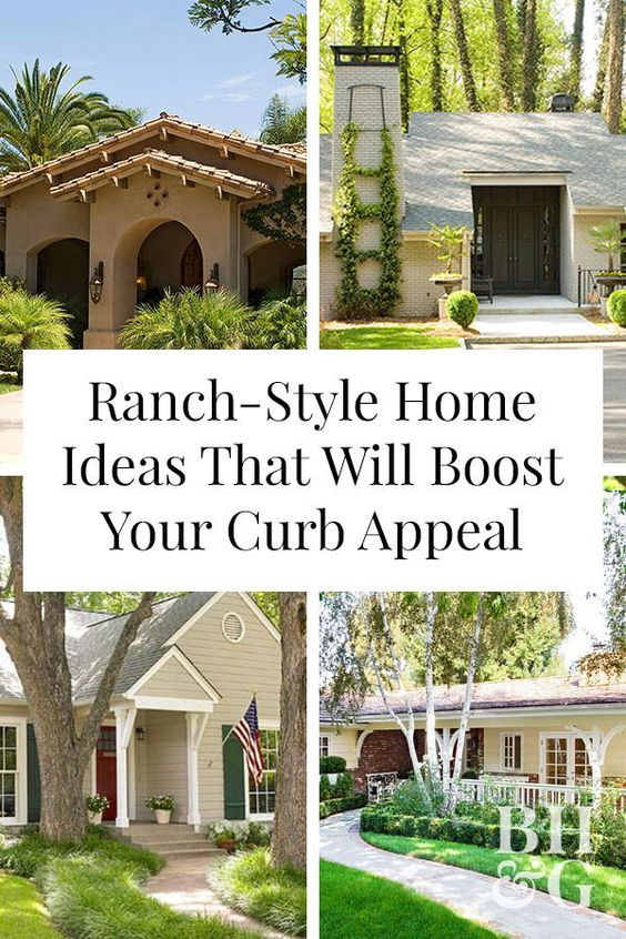 22 Ideas To Steal From Our Favorite Ranch Style Homes Curb Appeal Ranch Style Homes Ranch House