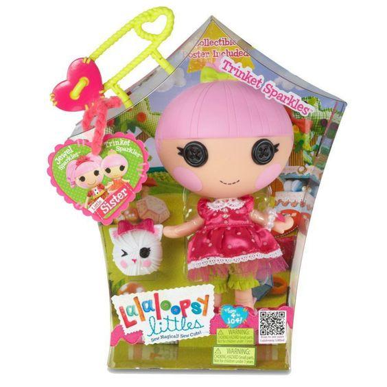 "Mga lalaloopsy littles 7"" trinket brilha com pet princesa gatinho novo com babados"