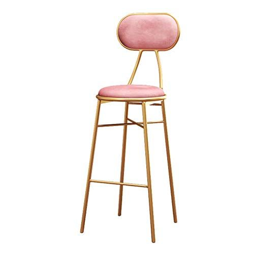 High Stool Modern Barstools Chair With Back And Footrest For Kitchen Pub Bar High Stools Gold Metal Legs Side With Images Bar Stools Restaurant Stools Modern Bar Stools