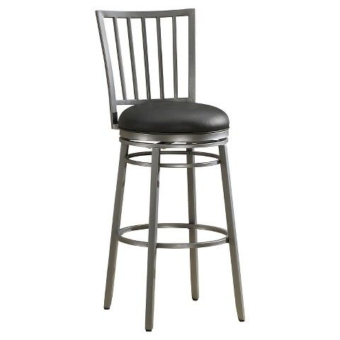 "American Heritage 26"" Counter Stool - Silver/Black"