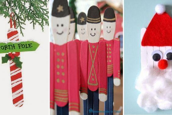 25 bricolages de Noël à faire avec des bâtons popsicle, à café, ou à crème glacée!